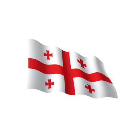 Georgia flag, vector illustration on a white background 向量圖像