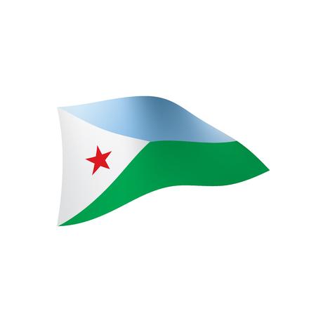 Djibouti flag, vector illustration Illustration