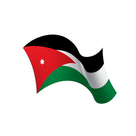Jordan flag, vector illustration
