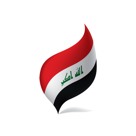 Iraqi flag, vector illustration