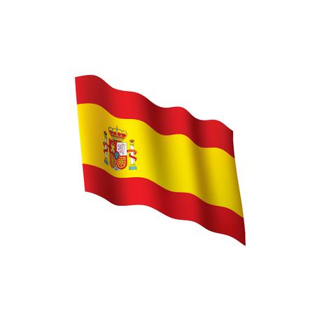 Spain flag, vector illustration Banque d'images - 95433757