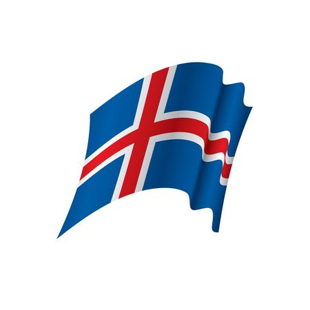Iceland flat vector illustration Illustration
