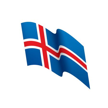 Iceland flag vector illustration Illustration