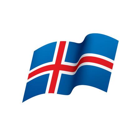 Iceland flag vector illustration Stock Illustratie