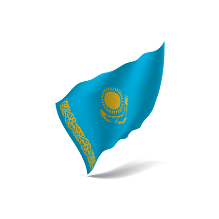 Kazakhstan flag, vector illustration