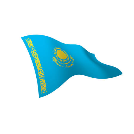 Kazakhstan flag, vector illustration