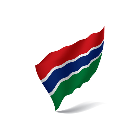 Gambia flag vector illustration.