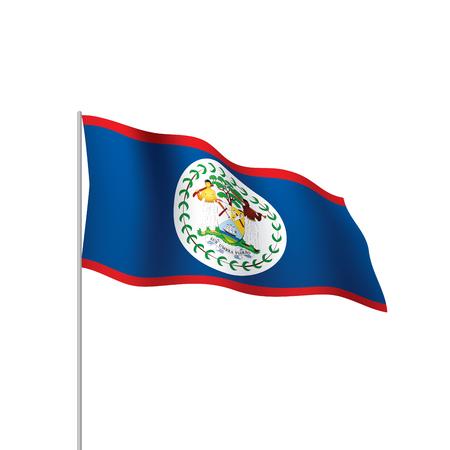 Belize flag Vectores