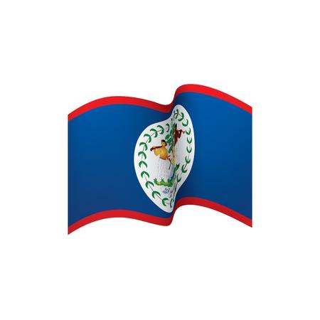 Belize flag, vector illustration