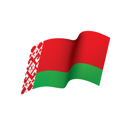 Belarus flag, vector illustration on a white background 일러스트