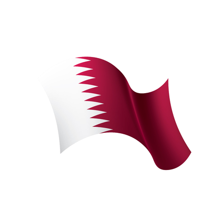 Qatar flag, vector illustration on a white background