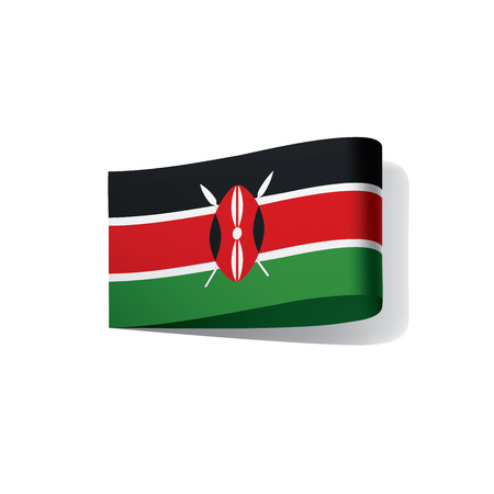 Kenya flag, vector illustration on a white background 版權商用圖片 - 95507990
