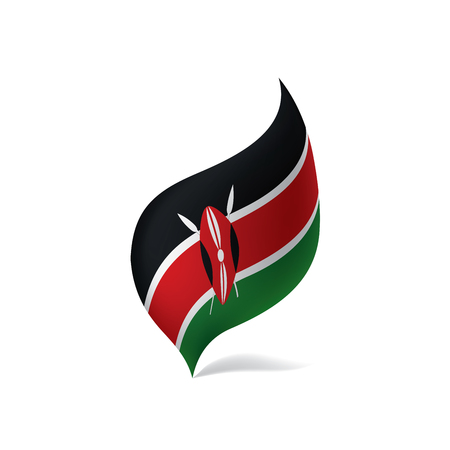 Kenya flag, vector illustration on a white background