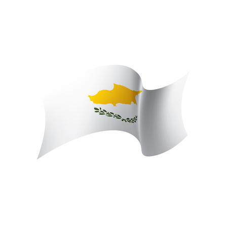 Cyprus flag, vector illustration on a white background Vettoriali