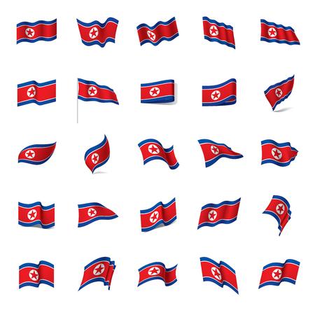 North Korea flag, vector illustration on a white background