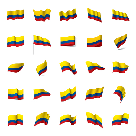 Colombia flag, vector illustration on a white background Reklamní fotografie - 95508765