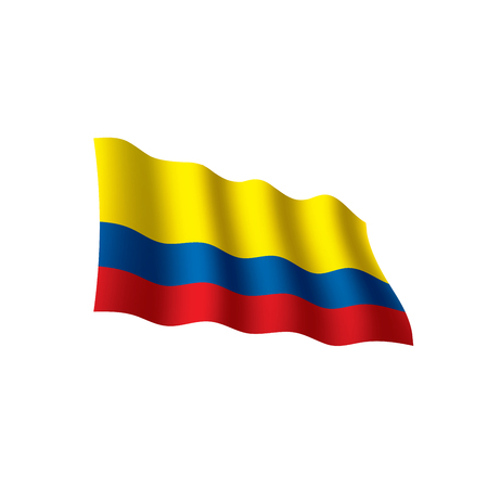 Colombia flag, vector illustration on a white background