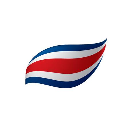 Costa Rica flag Ilustrace