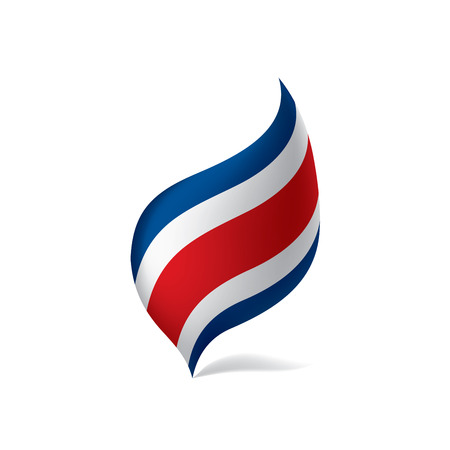 Costa Rica flag, vector illustration