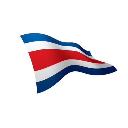 Costa Rica waving flag illustration