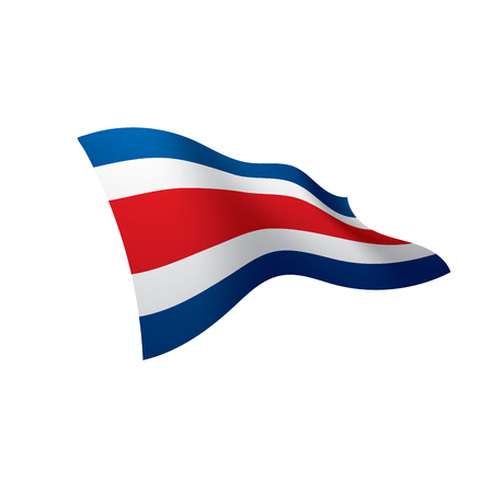 Costa Rica waving flag illustration