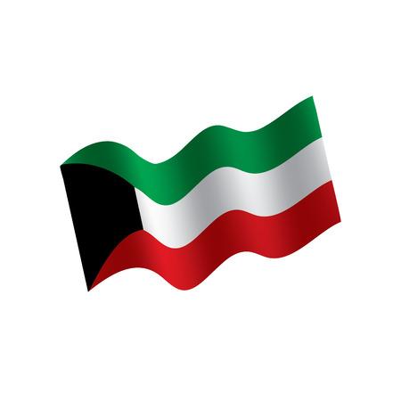 Kuwait waving flag illustration