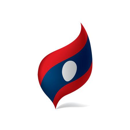Laos flag illustration Illustration