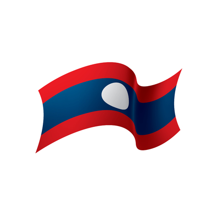 Laos waving flag illustration Illustration