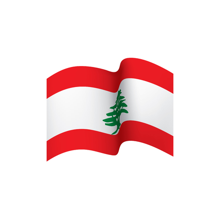 Lebanese flag, vector illustration on a white background Vectores