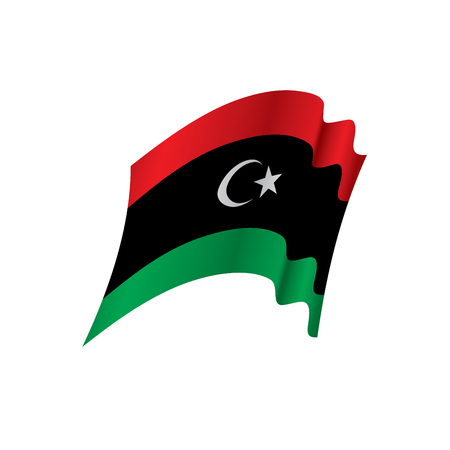 Libya flag, vector illustration Illustration