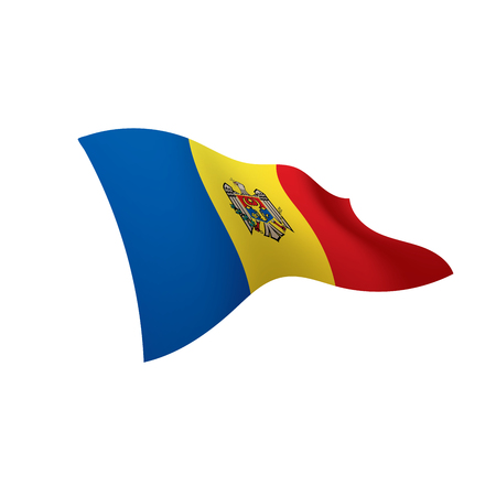 Moldova flag, vector illustration