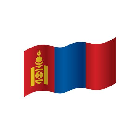 Mongolia flag, vector illustration Illustration