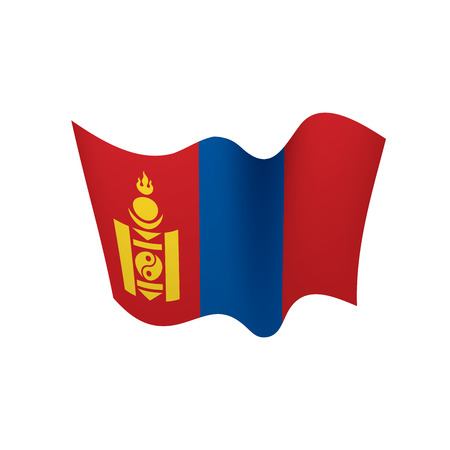 Mongolia flag, vector illustration Çizim