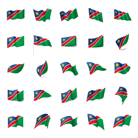 Namibia flag, vector illustration