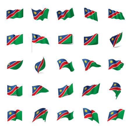 Namibia flag, vector illustration