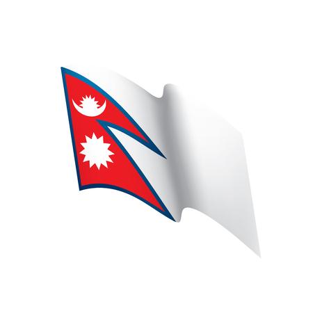Nepal flag, vector illustration Illustration