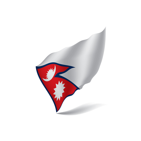 Nepal flag, vector illustration Illustration