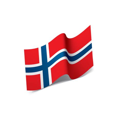 Norway flag, vector illustration