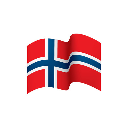 Norway flag, vector illustration