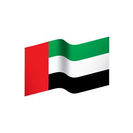 United Arab Emirates flag, vector illustration Illustration