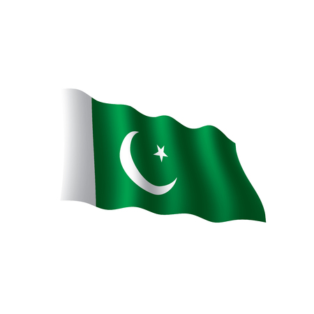 Pakistan flag, vector illustration Banco de Imagens - 95759882