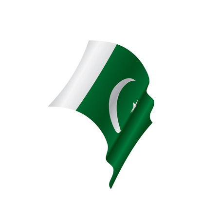 Pakistan flag, vector illustration