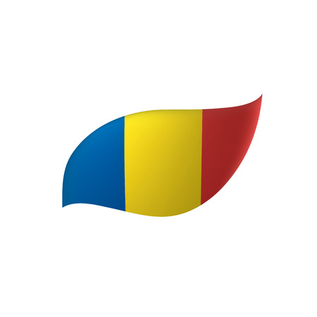 Romania flag, vector illustration Illustration