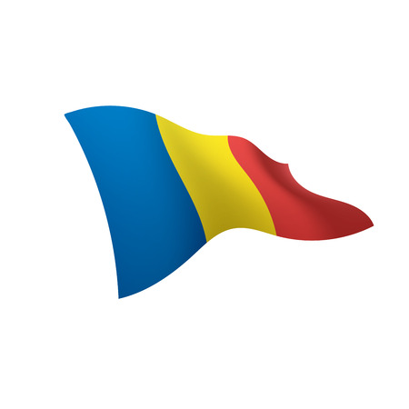 Romania flag, vector illustration 矢量图像