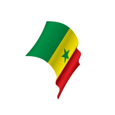 Senegal flag, vector illustration on a white background Illustration