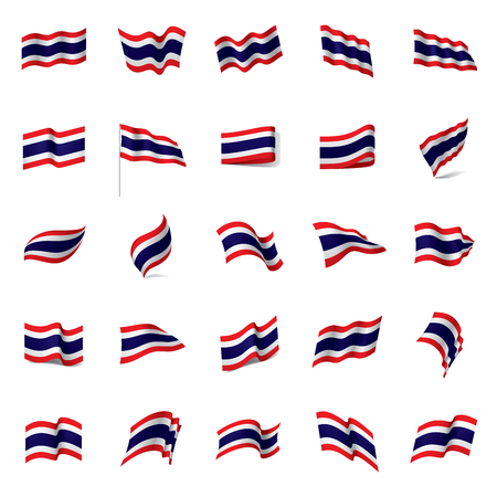 Thailand flag, vector illustration on a white background