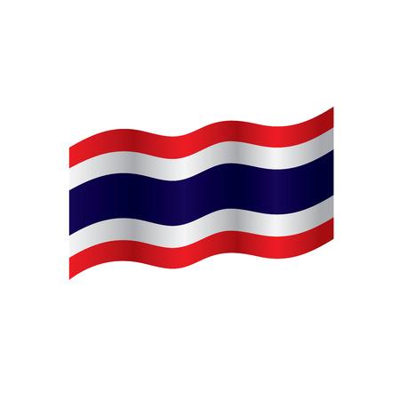 Thailand flag, vector illustration on a white background Banco de Imagens - 95608400