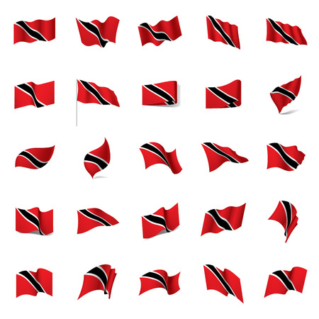 The Trinidad and Tobago flag, vector illustration on a white background