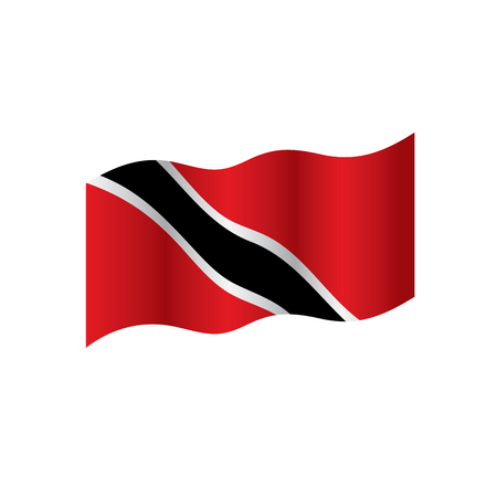 A Trinidad and Tobago flag, vector illustration on a white background