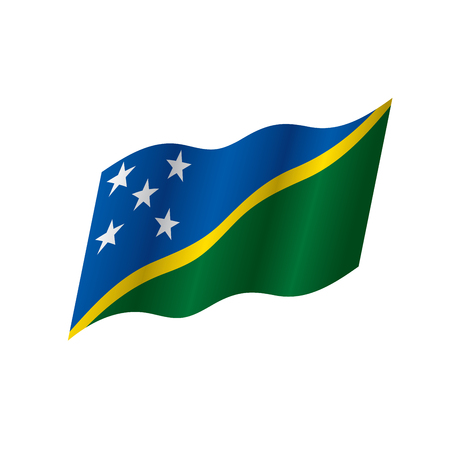Solomon Islands flag, vector illustration on a white background Illusztráció